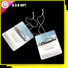2014 wholesale promotional gift hanging paper car air freshener
