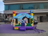 Dora explore inflatable bounce house,large bouncing area,precision digital printing