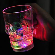 Fashion Skull Style Multicolored LED Flashing Light Up Beer Mug