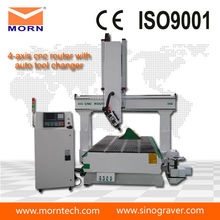 cheap low cost 4 axis 1325 wood CNC router machine