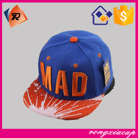 Children flat hip-hop snapback cap with artificial girl 3 characters