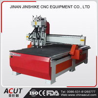 Factory manufacture directly sale 1325 pneumatic three head wood engraving machine