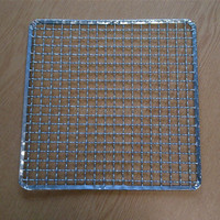 Crimped stainless steel bbq grill net/netting