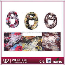 Floral Print Scarves Winter Neck Wrap