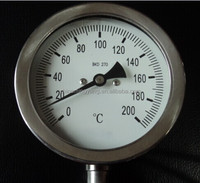 the temperature pressure gauge 100mm