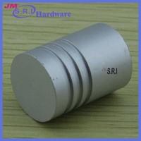 Europe style white aluminum material mini glass drawer knobs