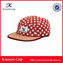 Custom Wholesale 5 Panel Cap/Hat Dots On The Fabric 5 Panel Hat