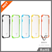 """2015 Hot fashion high quality clear transparent hard plastic case back cover skin for iphone 6 .6s 4.7"""""""