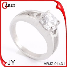 companies looking for distributors white gold stainless stell ring diamond ring