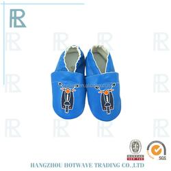 Cotton newborn italian leather baby shoes