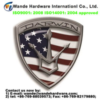 2016 new custom design chrome plating metal logo