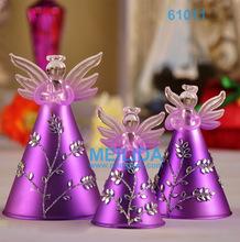 Purple angels christmas tree ornaments