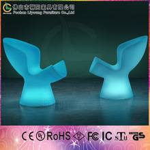Illuminated Sex Lounge Chair/Factory Direct Wholesale Outdoor Bar Furniture/16 Colors and Modern LED Bar Chair with Cheap Price