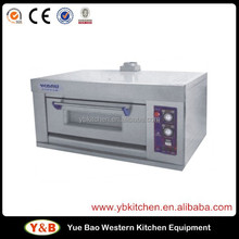 Manual 1 deck 1 tray Stainless Steel Gas Oven , Pita Bread Oven