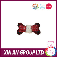 2014 hot sale toy good quality plush dog bone toy