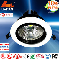 led recessed down light 18w down light fittings