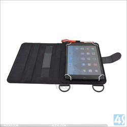 standing leather cover 7 inch tablet universal leather case with shoulder strap