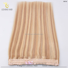 2015 China Supplier Double Drawn No Tangle halo hair weft