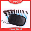 MSQ New 12pcs high quality synthetic hair cosmetic brush with zip bag