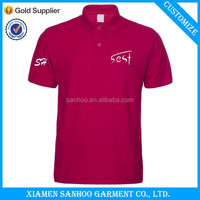 OEM Polo Shirt Plus Size Clothing For Men High Quality Custom Printed DIY Embroidery
