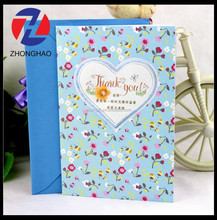 2015 new arrived elegant with envelope customized printed fancy Teacher's day card