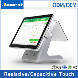 """15"""" all in one touch screen wifi pos machine for book shop"""