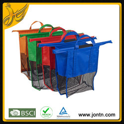 Promotional Foldable reusable shopping bag for trolley super market shopping cart bag
