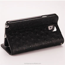 New style Credit Card Slot Wallet Leather Case for samsung note 3 case