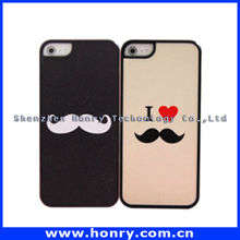 mustache cover Case for iPhone 5, mobile phone hard case