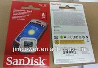 SanDisk Micro SDHC 8GB Memory Card SDSDQM-8GB