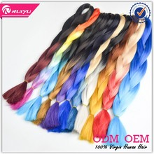 2015 new fashion hot selling ombre kanekalon braiding hair wholesale