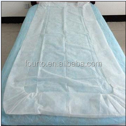 Sample free disposable nonwoven hospital mattress cover/stretcher fitted sheets with elastic
