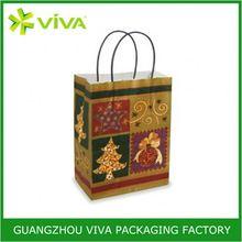 Customized logo printed handmade linen gift bags