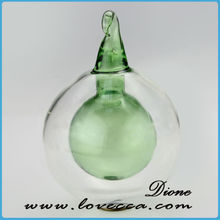Very beautifu wholesalel clear & green glass ball christmas ornaments