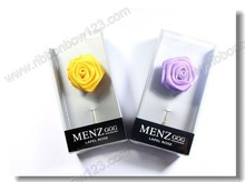 MSD Elegant New Tie Pin ribbon Flower Brooch For Men