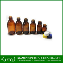 100ml amber chemical glass bottle