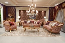 Antique Italian Rococo Style Gilt Wood Sofa FF-128
