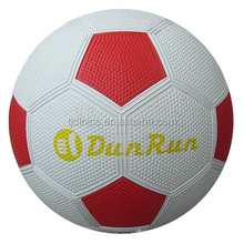 Hot sell cheap rubber football with own print logo