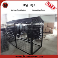 High Quality Competitive Price Durable Black Epoxy Coating Large Iron Dog Kennel Cage
