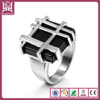 top latest design 2014 trendy turkish black stone ring for men