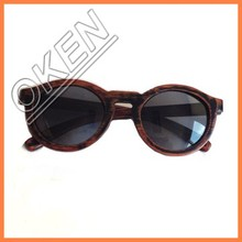 S-4142 handmade fashion brown embossing logo gift &Craft wooden sunglasses