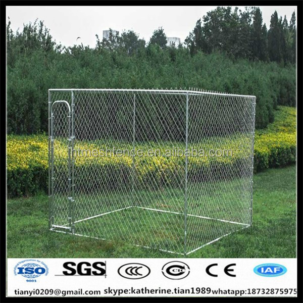 Chain Link Portable Dog Pet Movable Kennel Cage Backyard Sunscreen