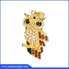 2015 new products usb memory stick flash drive manufacture owl shaped usb jewelry