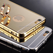 exquisite metal mirror phone case for iphone 6, metal cell phone case with mirror