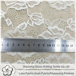 High quality african french nylon with spandex lace fabric