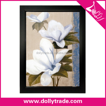 modern decorative white magnolia flower painting on canvas