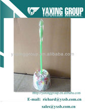 plastic clean brush with flowers printing