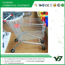 90 Liter European style shopping cart with elevator and galvanize coating