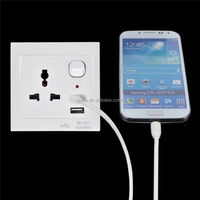 2015 metal clad power socket with 2usb receptacle uk standard