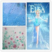 2016 best selling elas dress fabric polyester snowflake printed organza fabric